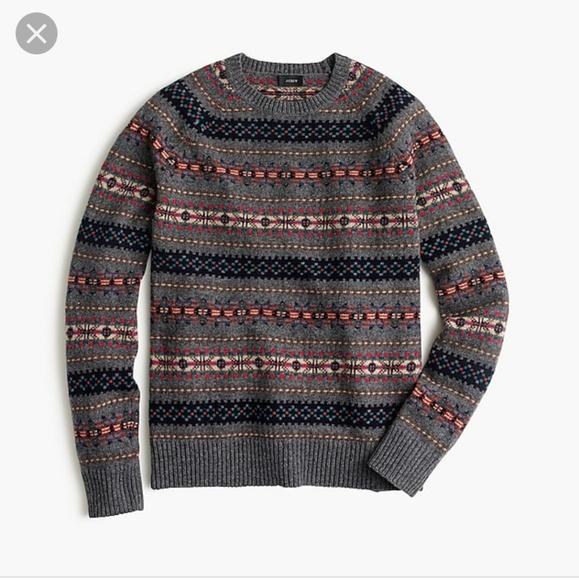 d4b945625999 J. Crew Sweaters - J.Crew Lambs Wool Fair Isle Sweater Size M